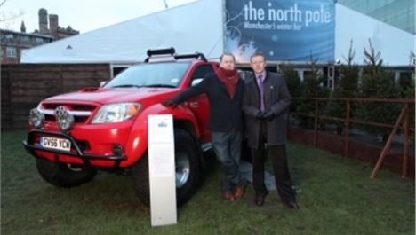 Have your photograph taken with Top Gear's famous arctic car at the North Pole