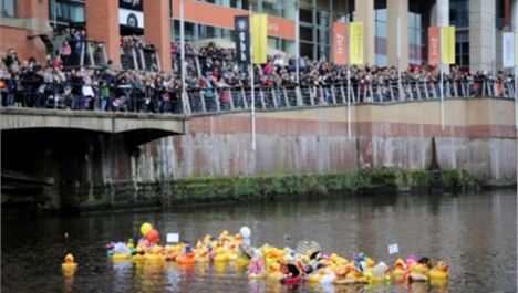 Spinningfields Goes Quackers for The Manchester Duck Race