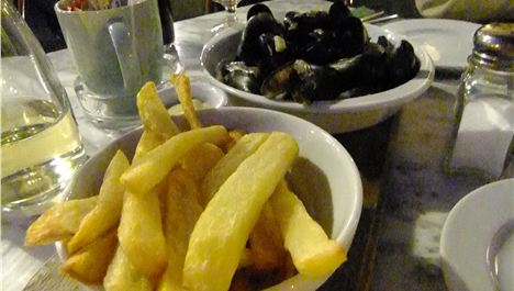 Moules frites at The Quarter...