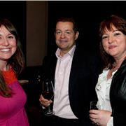 Georgina and Bernadette from Confidential, with Scott Harper, Malmaison big cheese