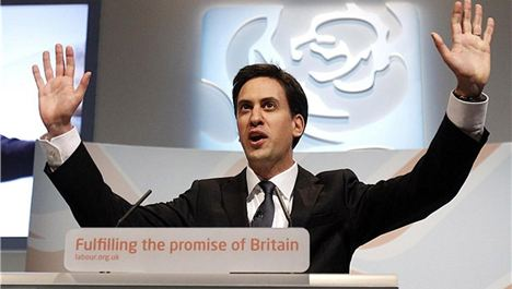 Miliband speaks to the Arena...