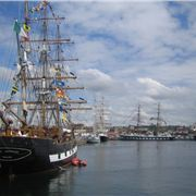 Liverpool's Wellington Dock And The Tall Ships