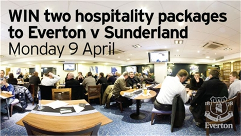 Win two Everton hospitality packages