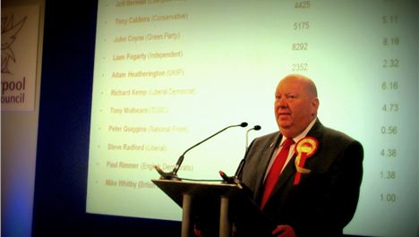 Anderson sweeps to power as first elected mayor of Liverpool