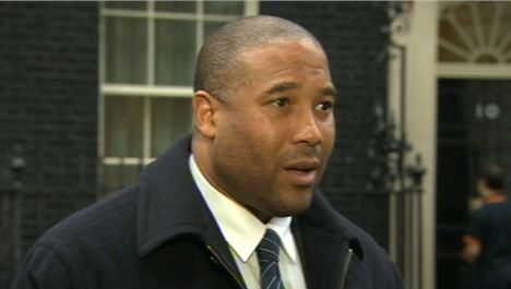 John Barnes gives racism lecture