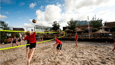 Beach volleyball at Liverpool ONE