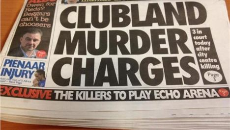 Echo headlines that go clang in the night