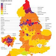 Council cuts map from The Guardian
