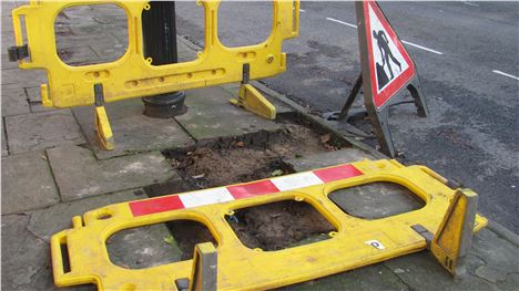 Dirty diggers: Thieves leave their bogus barriers and signs behind on Huskisson Street