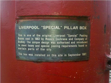 Liverpool Special Pillar Box