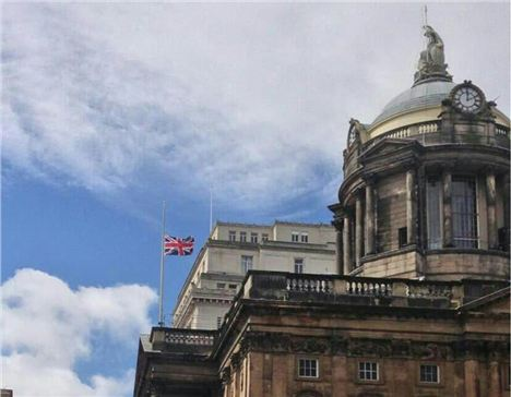 Flag At Half Mast For Anne Williams In Liverpool