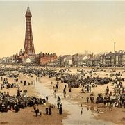 Lancashire, Blackpool, Beach And Tower