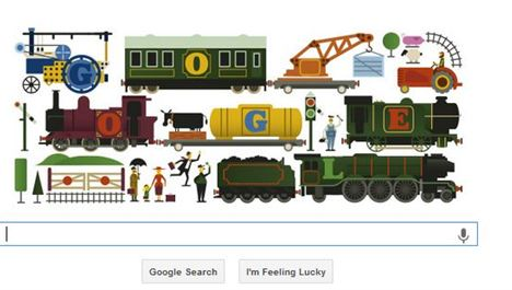 Google doodle for Meccano man Frank Hornby