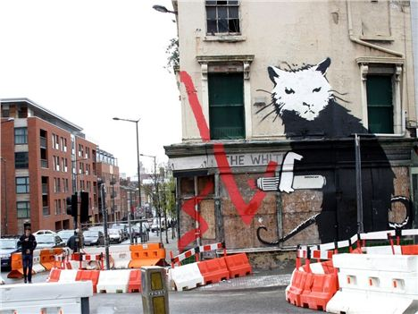 Banksy Rat - How It Originally Looked