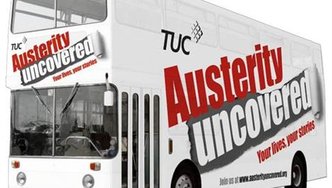 Austerity bus rolls into town