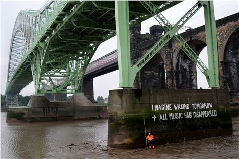 Bill Drummond Runcorn Bridge Graffiti