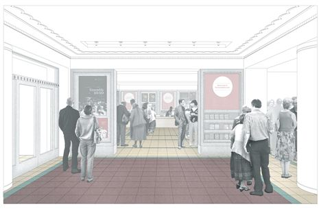 Entrance Foyer And Box Office Perspective