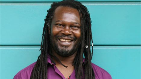 Levi Roots shows his Dragon in Sefton Park