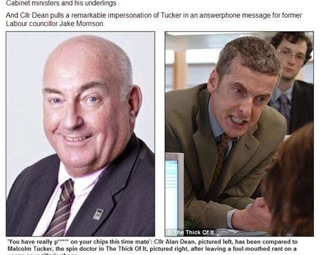 Alan Dean Is Likened To Malcolm Tucker In The Daily Mail