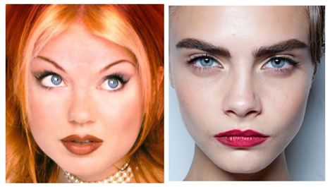 Brow fashion - then and now