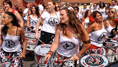 Batala make a racket to raise a packet