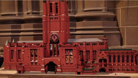 Liverpool Cathedral is recreated in Lego