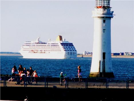 A Cruise Liner Floats By Fort Perch Rock %28Pix Angie Sammons%29