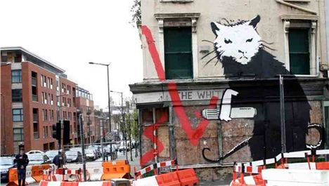 Banksy rat resurfaces in London auction bonanza