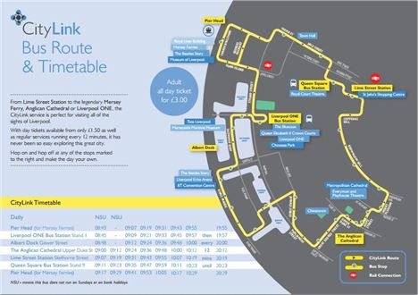City Link Bus Route And Timetable