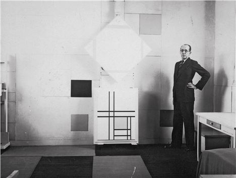 Mondrian In His Studio In Paris 1933