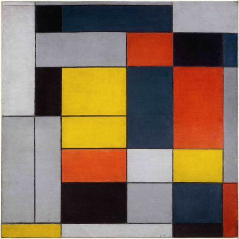 Piet Mondrian - No_ Vi Composition No_II