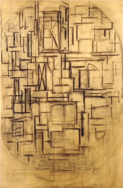 Piet Mondrian - Scaffold Study For Tableau Iii