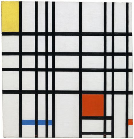 Piet Mondrian - Composition With Yellow, Blue And Red 1937 - 42