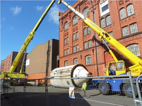Plant is removed from the historic Cains Brewery last month