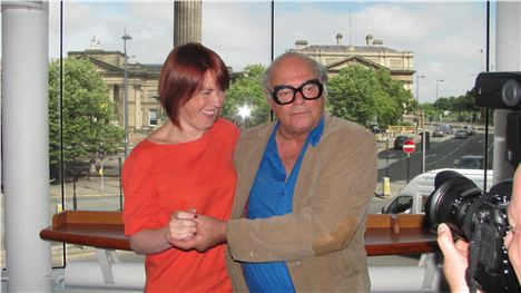 Jean-Luc Coulcourt with Liverpool's culture boss Claire McColgan