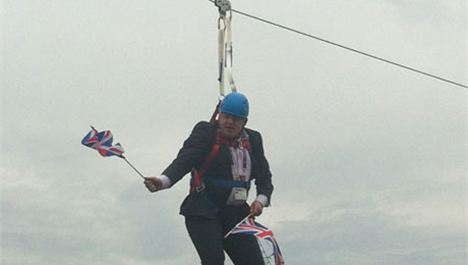 Boris Johnson's stuck zip promises 'unforgettable minute of joy'