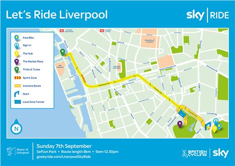 Sky Ride Route Map