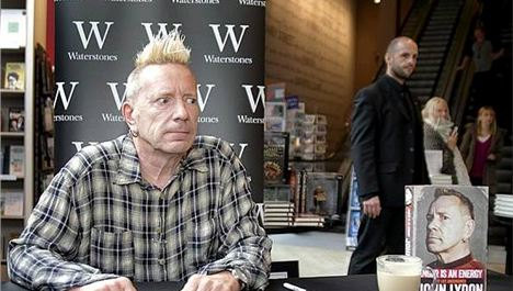 'Allo, my name's John Lydon. Sorry I'm late, I've 'ad diarrhoea