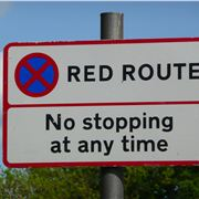 Red-Route-Sign