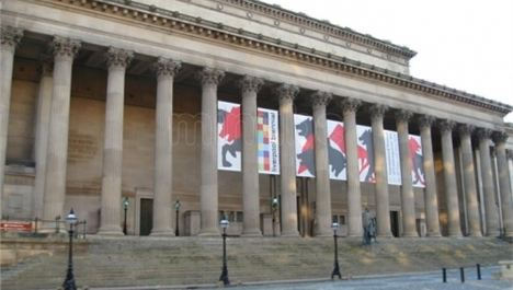 Big tent for scouse weddings outside St George's Hall