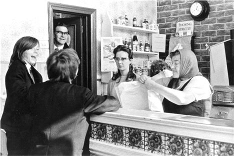 Long's Chippy In Falkner Street 1972 %26#169%3BTricia Porter