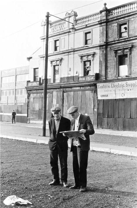 Men In Myrtle Street By The Bedford Buildings 1972 %26#169%3BTricia Porter